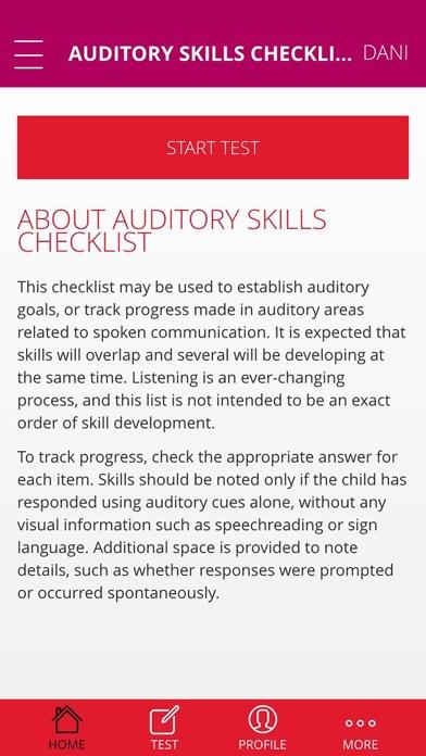 Auditory Skills Checklist Lite