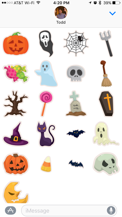 Halloween Message Stickers