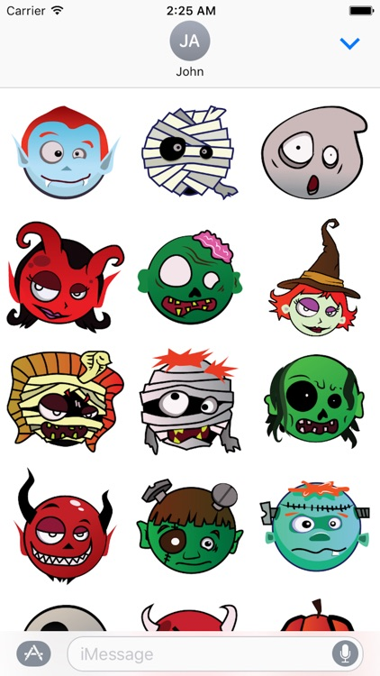 Happy Halloween Emotion Sticker
