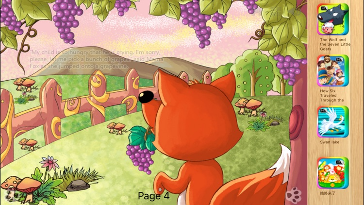 The Fox and the Grapes Bedtime Fairy Tale iBigToy