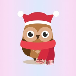 Cute Christmas Owls - Fx Sticker