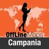 Región de Campania mapa offline y guía de viaje