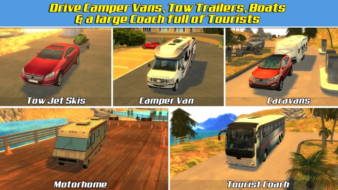 RV & Boat Towing Parking Simulator Real Road Car Racing Driving Screenshot