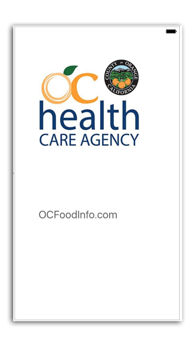 OC Food Inspections screenshot one