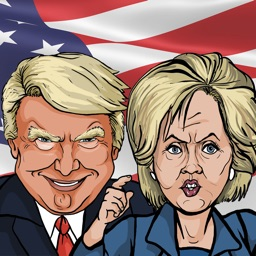 Trump/Clinton 2016 Election Emoji Stickers