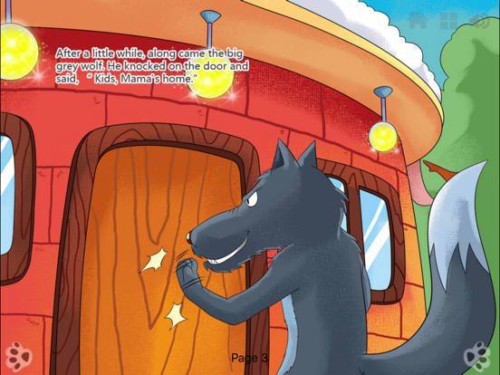 Wolf and the Seven Little Goats - bedtime fairy tale Interactive iBigToy screenshot