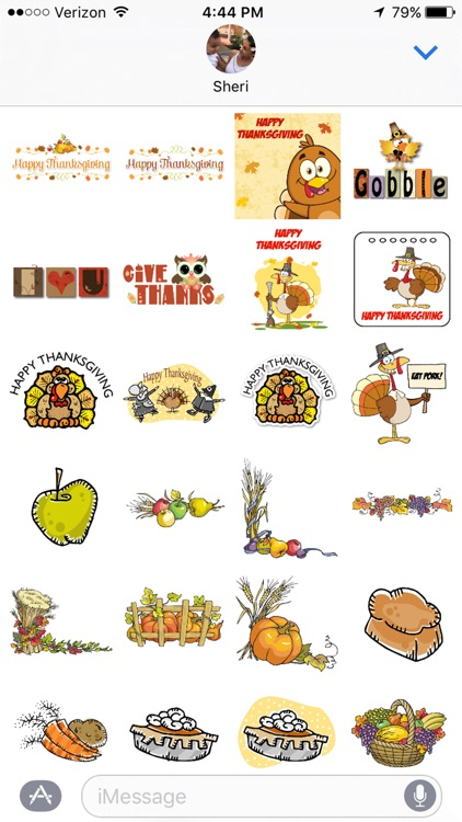 Thanksgiving iMessage Stickers
