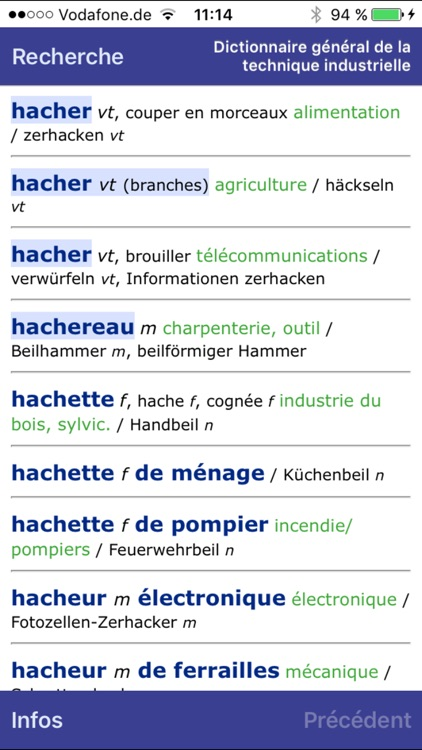 Dictionary of Engineering German <-> French screenshot-3