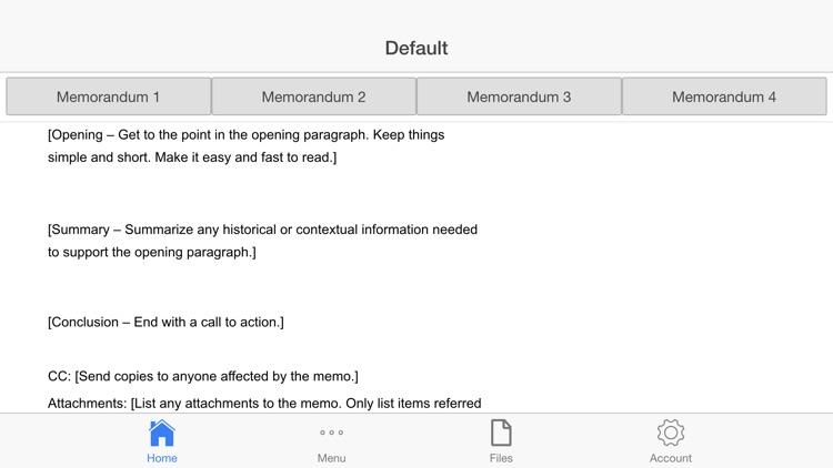 Memorandum Letter screenshot-3