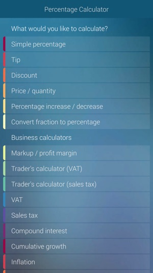 Percentage Calculator - percent, discount, tip on the App Store