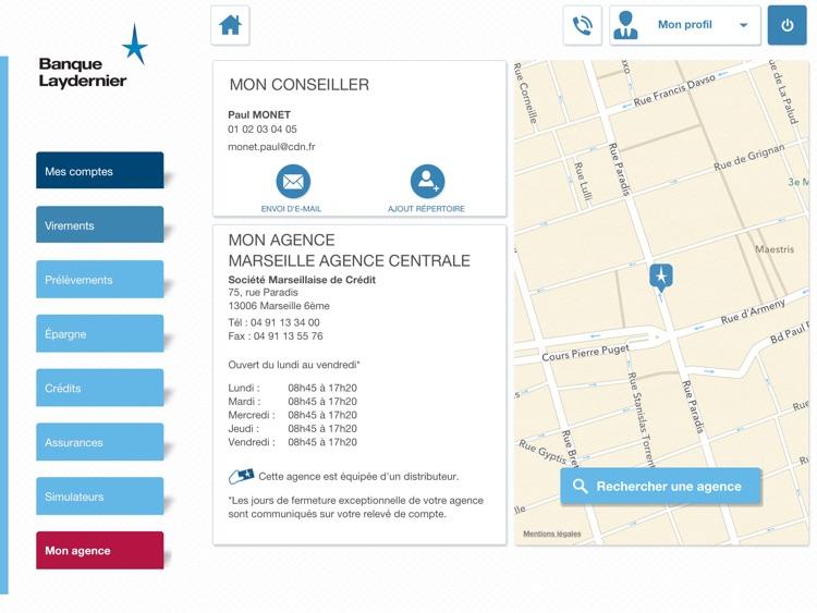 Banque Laydernier pour iPad screenshot-4