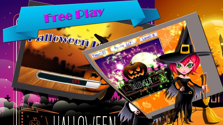 play easy solve jigsaw puzzle at halloween game