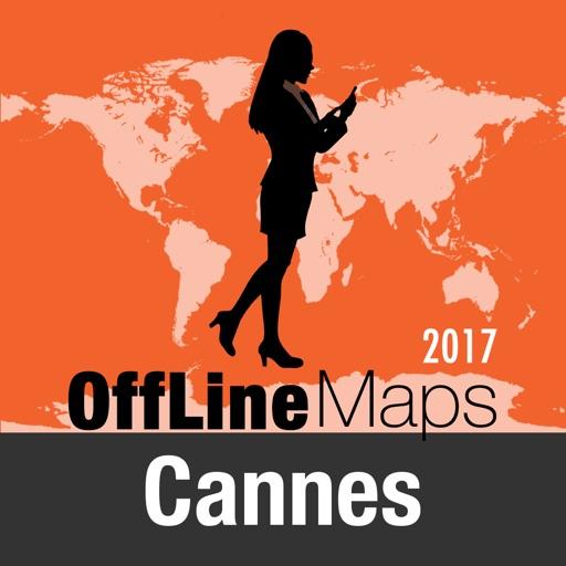 Cannes mapa offline y guía de viaje