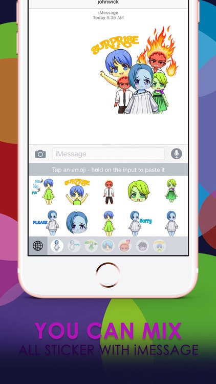 Emoji Cartoon Stickers Keyboard Themes ChatStick