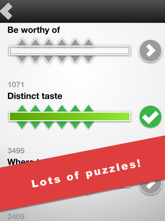 Brain Gems: A fun and addictive word game mix of word jumble puzzles and crossword clues screenshot