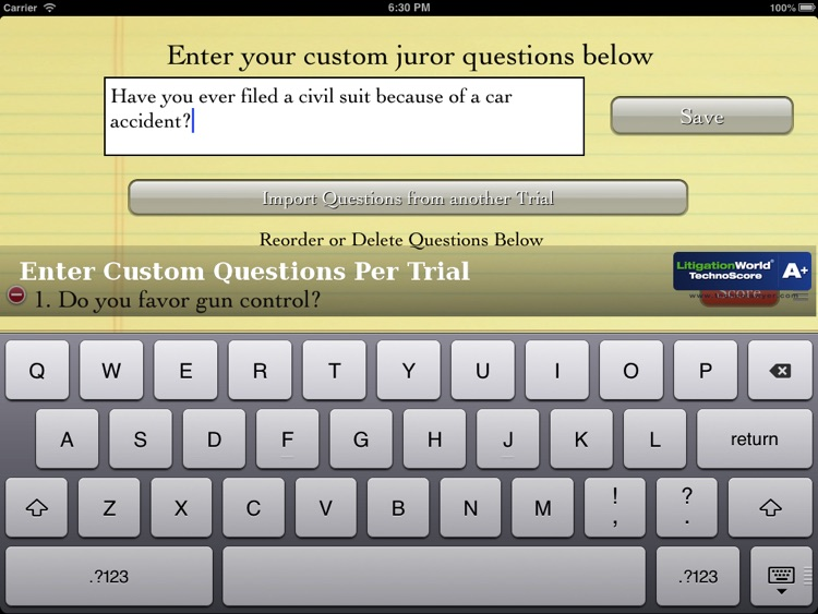 iJuror screenshot-2