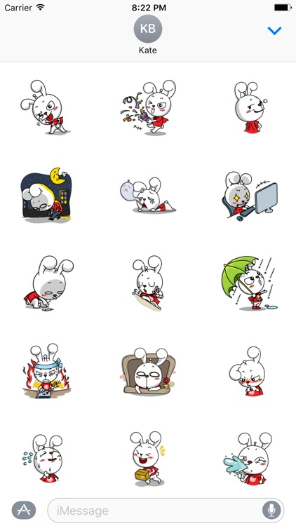 Nanny The Rabbit - Thanksgiving day stickers pack