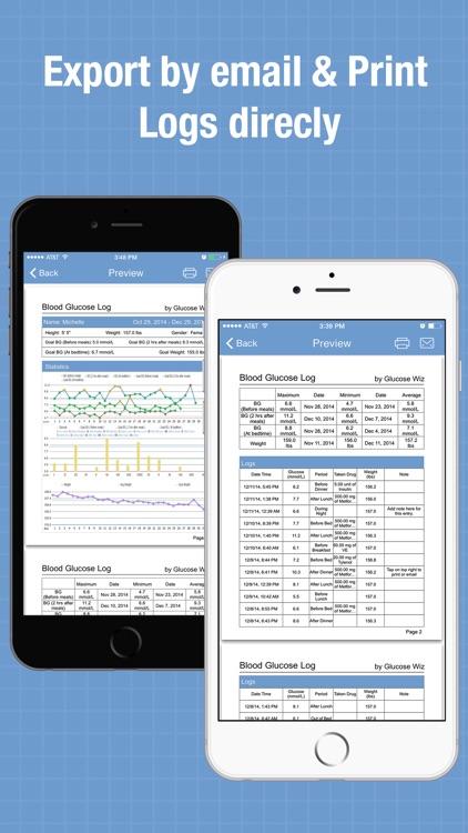 Glucose Wiz - Blood Sugar Log & Medication Tracker screenshot-3