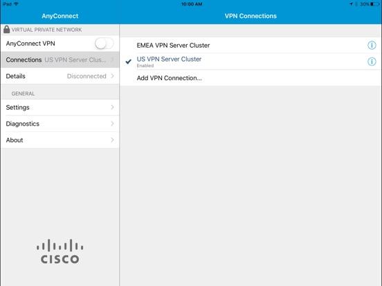Cisco Legacy AnyConnect iPad