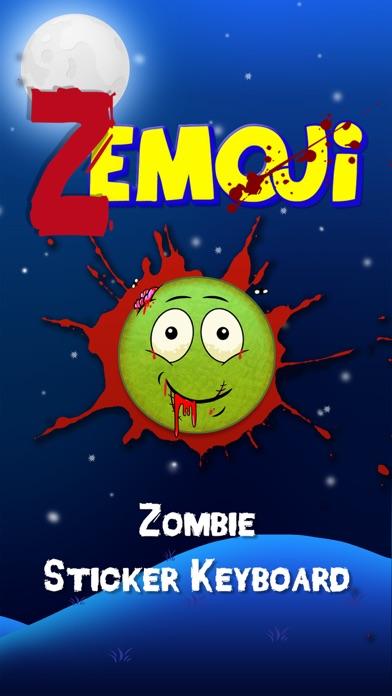 Zemoji Zombie Emoji - Halloween iMessage Stickers by
