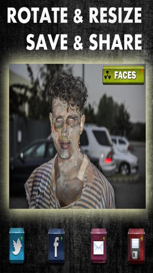 Zombie Booth Scary Face Photo Editor Camera Free Capture d'écran