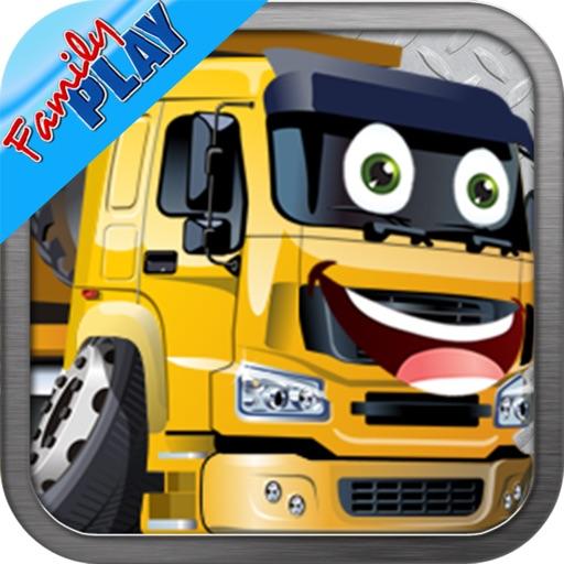 Trucks Jigsaw Puzzles: Kids Trucks Cartoon Puzzles iOS App