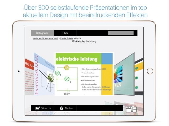 Vorlagen für Keynote 2016 im App Store