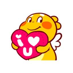 Golden Cupid Sticker