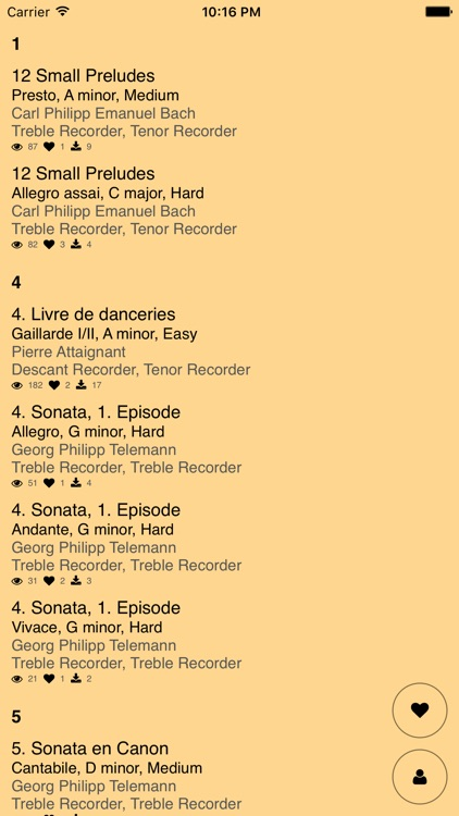 Recorder Duets – Notes for two Recorders screenshot-1