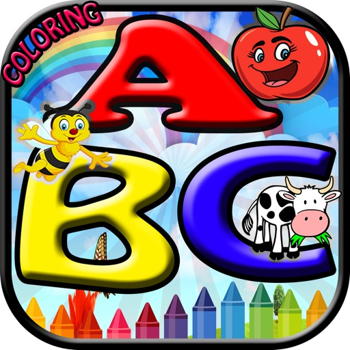 Kids Coloring Book For ABC iOS App