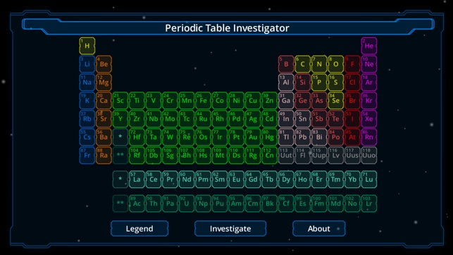 Periodic table investigator on the app store screenshots urtaz Image collections