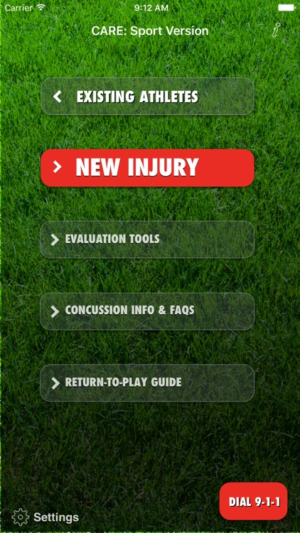 Concussion Assessment & Response: Sport Version