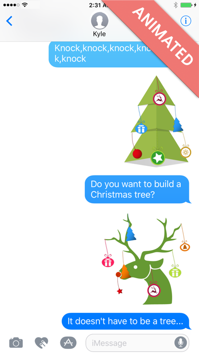 Xmas Deco:Animated Christmas Stickers for iMessage screenshot two