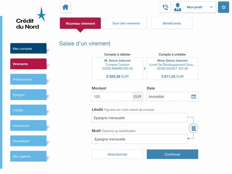 Crédit du Nord pour iPad screenshot-3