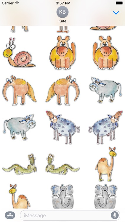 Cute Creatures Stickers screenshot-2
