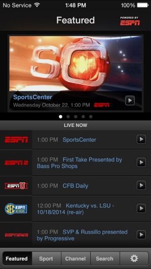 WatchESPN on the Ap...Watchespn App For Iphone