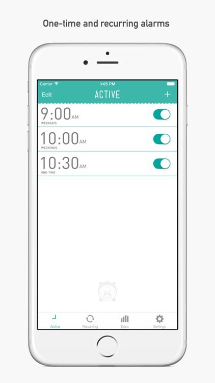 PiggyAlarm the Alarm Clock screenshot-0