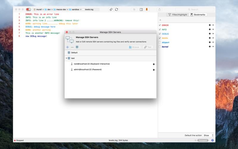 LogTail Screenshots