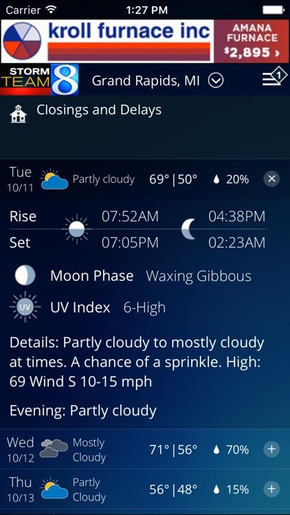 Storm Team 8 - WOOD TV8 Weather screenshot-3
