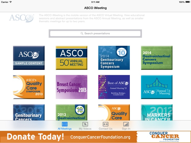 ASCO iMeeting screenshot-1