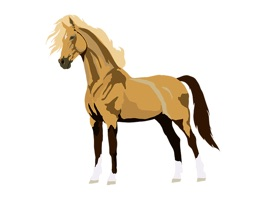 Cute, original, new horse art stickers of your favorite breeds of horses: