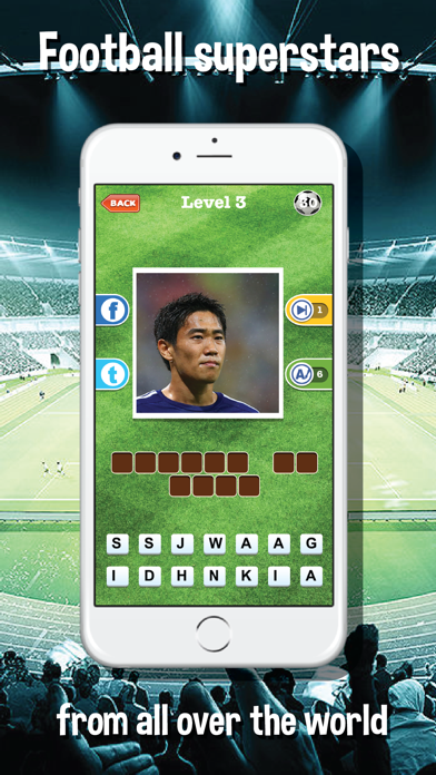 Guess who's the football players quiz app - Top footballer stars trivia game for real soccer fan screenshot three