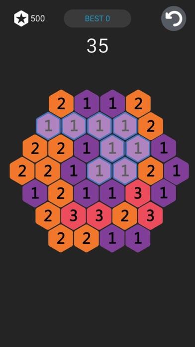 欢乐星星消除-六角形数字消除 screenshot two