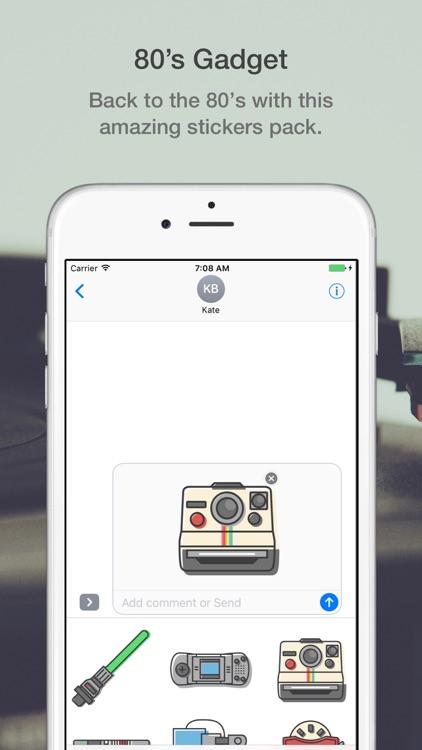 80's Gadget Stickers Pack screenshot-3