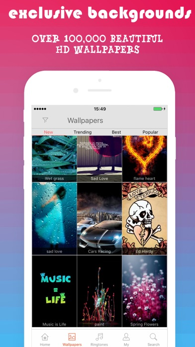 PHONEKY - Free iPhone Ringtones & Live Wallpapers screenshot four