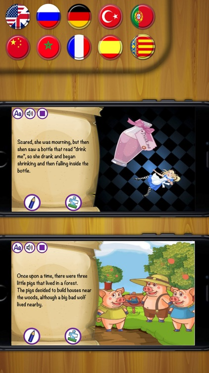Classic fairy tales - interactive book for kids screenshot-3