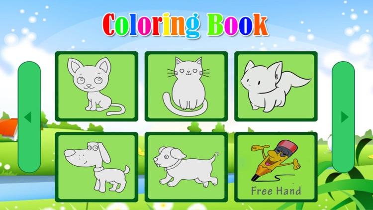Mini Animals Pet Coloring Book For Kids