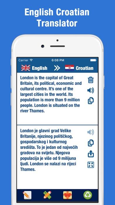English Croatian Translation and Dictionary screenshot one