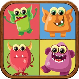 Cute Monsters Match Game for Kids