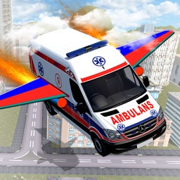 Ambulance Air Craft: Flying Car Driver Simulator